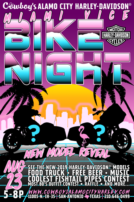 Miami Vice Bike Night Cowboy S Alamo City Harley Davidson