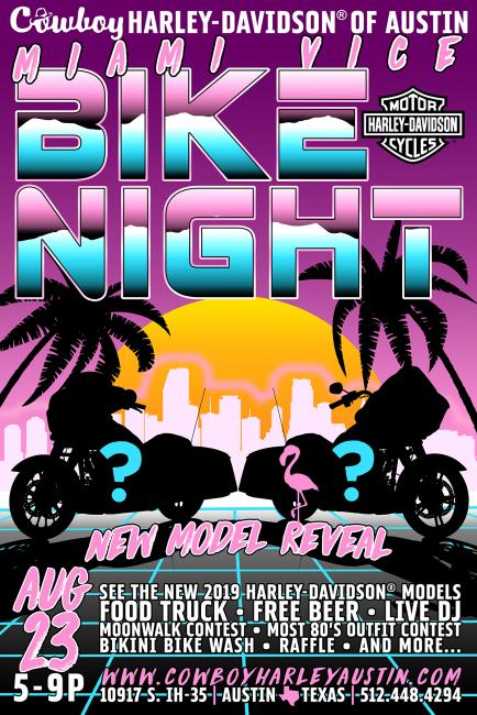 Miami Vice Bike Night