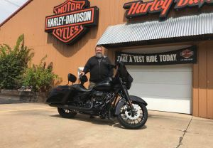 Bernie and his new Street Glide Special!