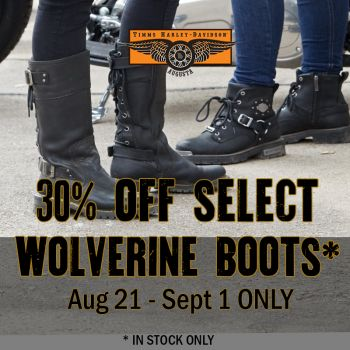 30% Off Select Wolverine Boots