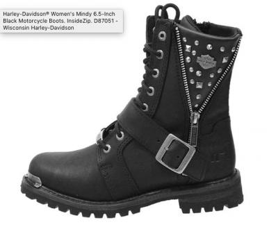 cc41582d530 Harley-Davidson® Women's Mindy 6.5-Inch Black Motorcycle Boots ...