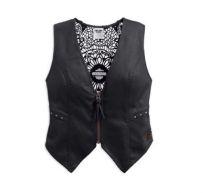 Women's Black Crochet Back Vest
