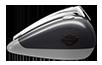 CVO<sup>™</sup> Street Glide<sup>®</sup> - チャードスティール & ライトニングシルバー