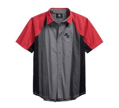 Mens Multi Grey Performance Vented Colorblock Shirt