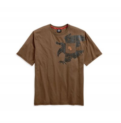 Mens Burnt Orange Schematic Eagle Pocket Tee