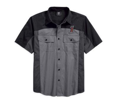 Mens Colorblocked #1 Colorblock Shirt