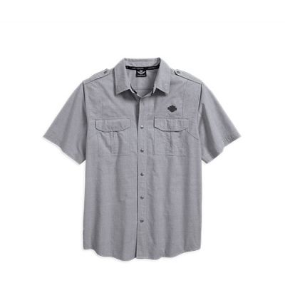 Mens Silver Grey Microstripe Shirt