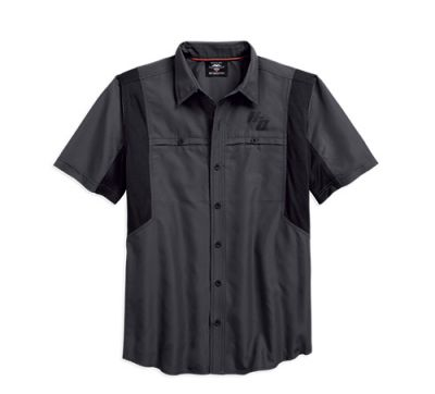 Mens Asphalt Performance Vented Fast Dry Shirt