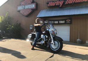 Ray and his first Harley-Davidson motorcycle!