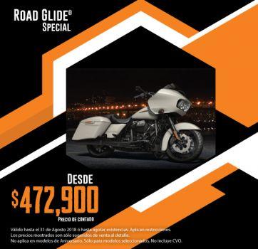 ¡Últimas 2018, aprovecha nuestra promoción en Road Glide® Special!