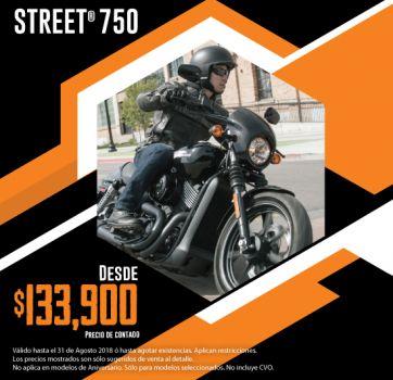 ¡Últimas 2018, aprovecha nuestra promoción en Street® 750!