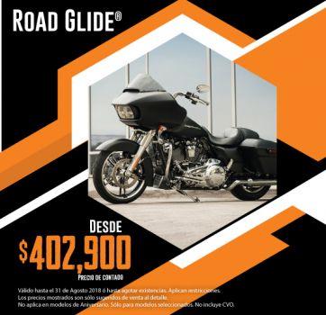 ¡Últimas 2018, aprovecha nuestra promoción en Road Glide®!