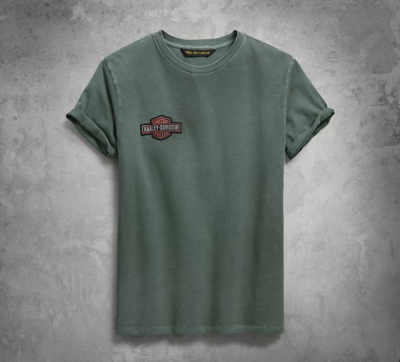 メンズジャージーアップリケスリムフィットTシャツ