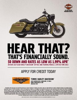 NEW 2017-2018 HARLEY-DAVIDSON®  SOFTAIL® AND TOURING MODELS. LIMITED TIME ONLY