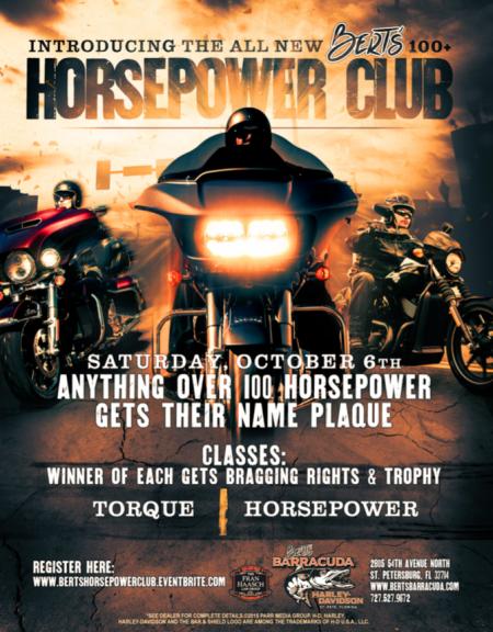 Bert's 100 Horsepower Club