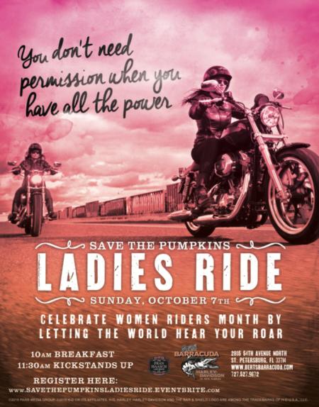 Save the Pumpkins Ladies Ride