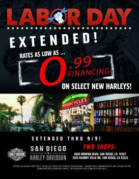 Limited Time Low Rates on select new 2018 Harleys*