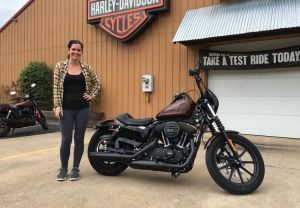 Tracey and her 2019 XL1200NS Iron Special!
