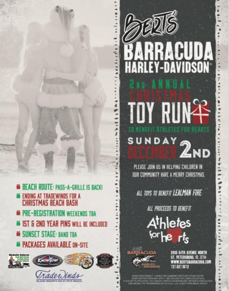 Bert's Barracuda Harley-Davidson 2nd Annual Christmas Toy Run