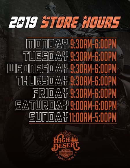 2019 Store Hours