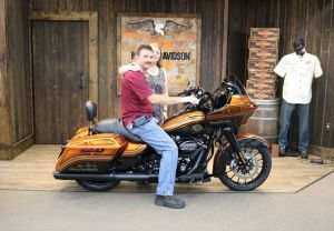 Jeffrey and Gailyns new Road Glide Special with custom paint!