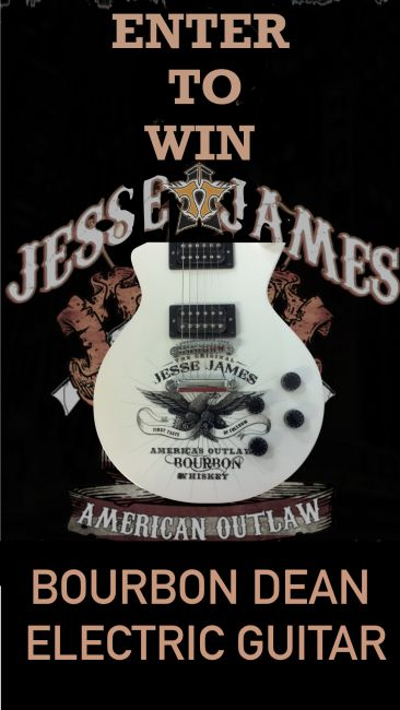 REGISTER TO WIN TICKETS TO JACKYL ON OCTOBER 26TH JESSE JAMES AMERICAN OUTLAW BOURBON DEAN ELECTRIC GUITAR DRAWING