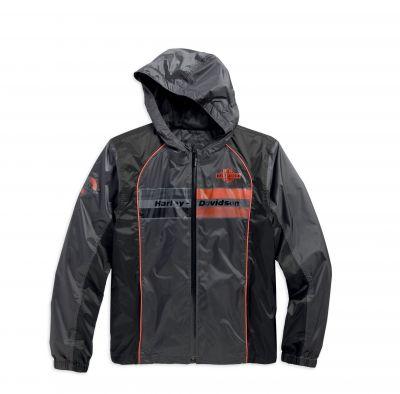 メンズコルテックス防水ミドルレイヤー商標B&Sロゴグレーカジュアルジャケット