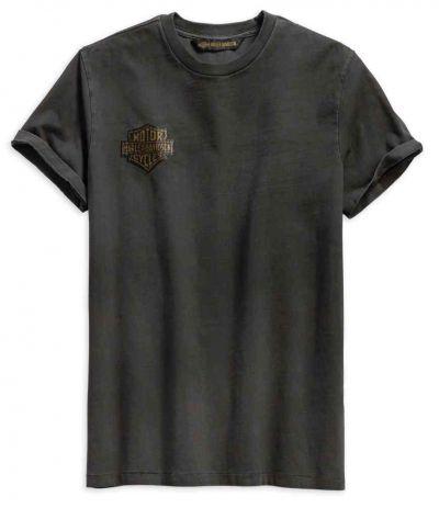 メンズウィングロゴスリムフィット半袖Tシャツ、グレー