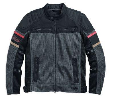 メンズバレルメッシュ&テキスタイルライディングジャケット
