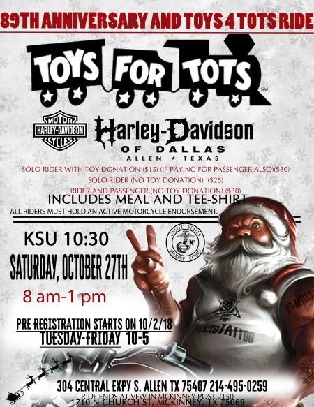 Toys for Tots 89th Anniversary Ride