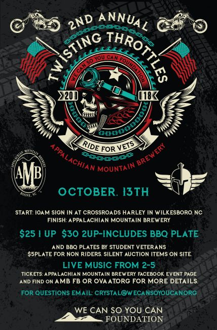 Twissting Throttle Ride 2nd Annual Ride ride for Vets