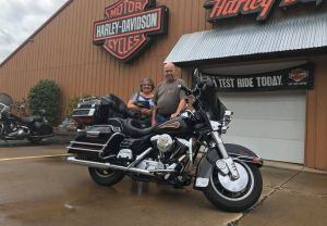 Dave and Janet and their first Harley!