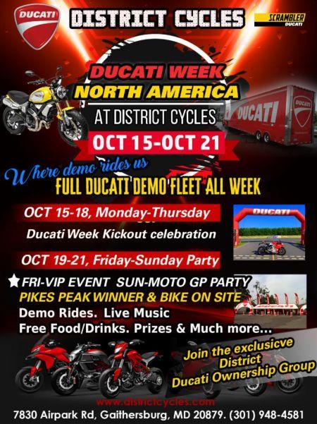 Ducati Week At District Cycles