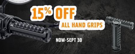 15% OFF Hand Grips!