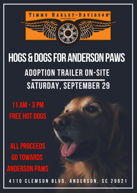 Hogs & Dogs For Anderson Paws