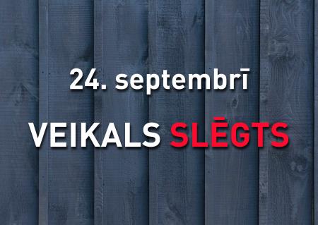 Darba laiks 24. septembrī