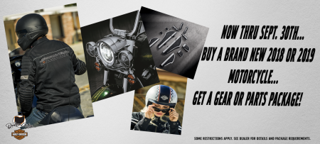 New Gear or Product Accessory Package when you purchase a new bike!
