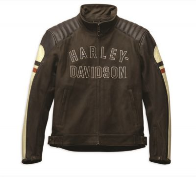 JACKET RAYLAND LEATHER BROWN