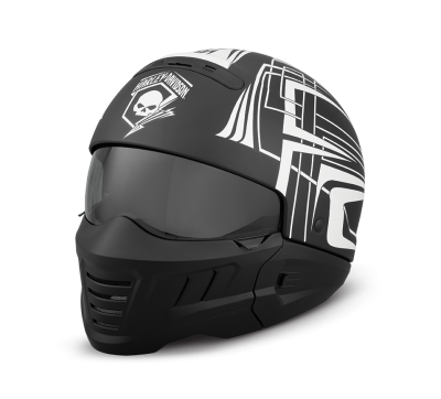 HELMET 2IN1 ECE SKULL LIGHTNING