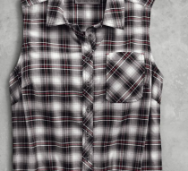 Women's HDMC Sleeveless Plaid Shirt