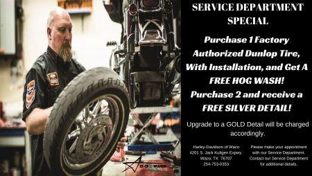 Service Department Dunlop Tire Special