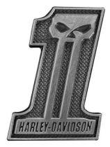 Значок #1 Skull Silver