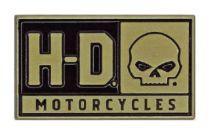 Значок H-D Skull, 2D Die Cast