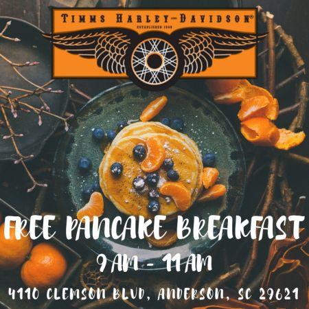 Pancake Breakfast Timms Harley Davidson