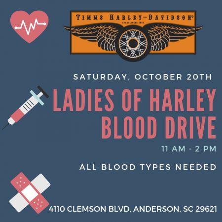 Ladies Of Harley Blood Drive Timms Harley Davidson