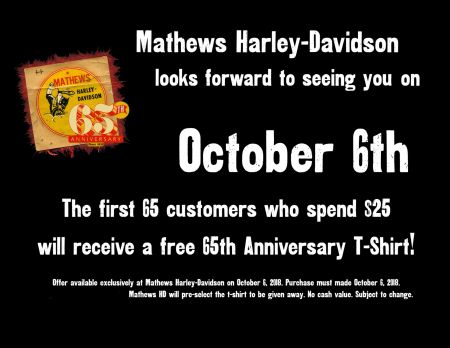 65 Customers Get A Free Shirt With Purchase