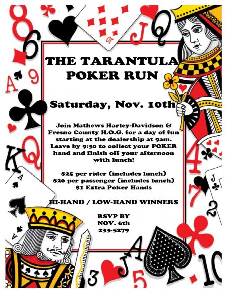 Tarantula Poker Run