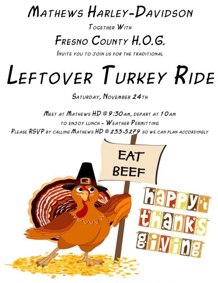 **CANCELLED**Leftover Turkey Ride