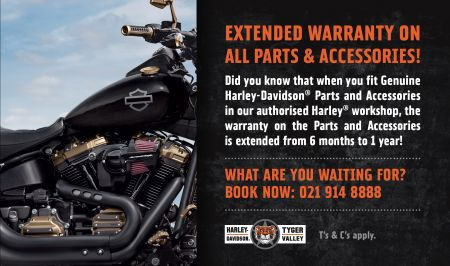 Extended Warranty: Parts & Accessories | Harley-Davidson