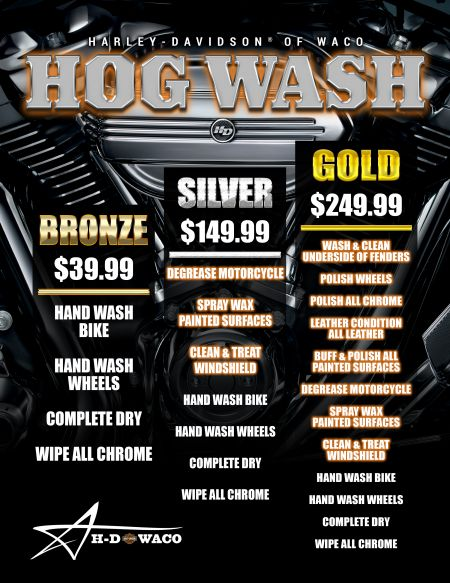 Service Dept HOG Wash